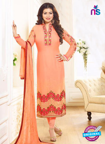 Zubeda 12706 Peach Georgette Party Wear Suit