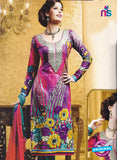 SC 12782 Multicolor and Green Embroidered Cotton Suit