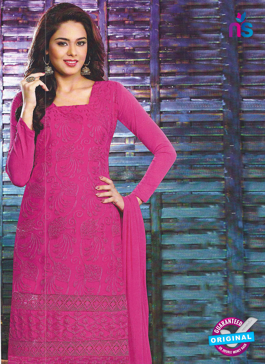 SC 12794 Pink Embroidered Chiffon Party Wear Suit