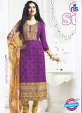 SC 12845 Purple and Yellow Pashmina Party Wear Designer Suit