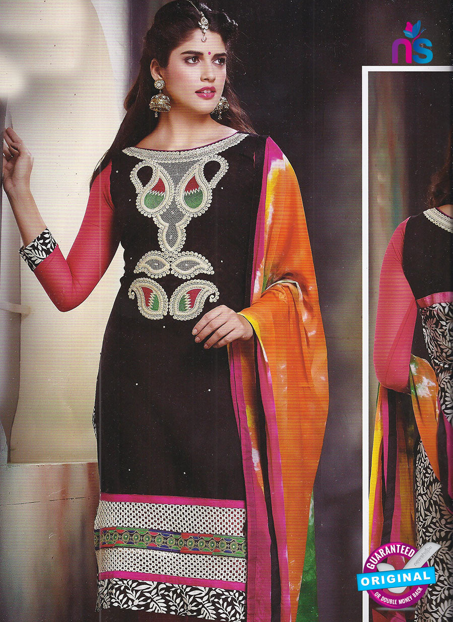 SC 12856 Black Cotton Designer Suit