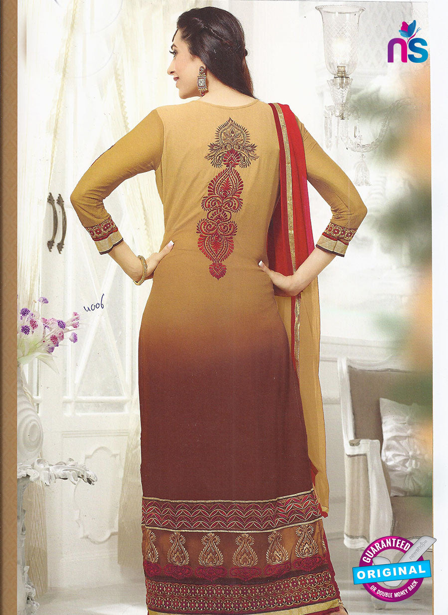 SC 12860 Beige and Brown Georgette Designer Suit