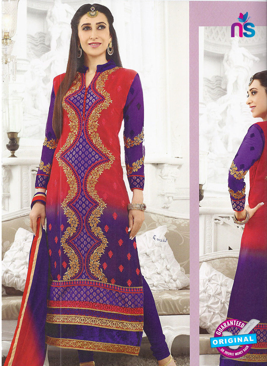 SC 12861 Red and Purple Georgette Designer Suit