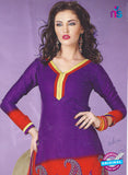 SC 12862 Purple and Multicolor Cotton Designer Suit