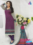 SC 12865 Purple and Multicolor Cotton Designer Suit