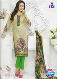 SC 12866 Green and Multicolor Cotton Designer Suit