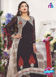 SC 12870 Black and Red Georgette Designer Suit