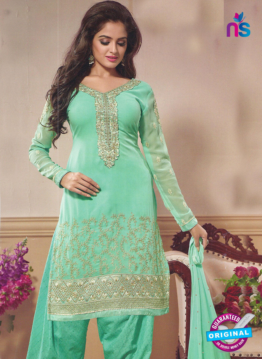 SC 12874 Sea Green Georgette Designer Suit