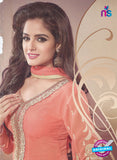 SC 12877 Peach Georgette Designer Suit