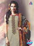 SC 12882 Beige and Maroon Cotton Designer Suit