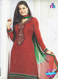 SC 12884 Red and Green Georgette Designer Suit
