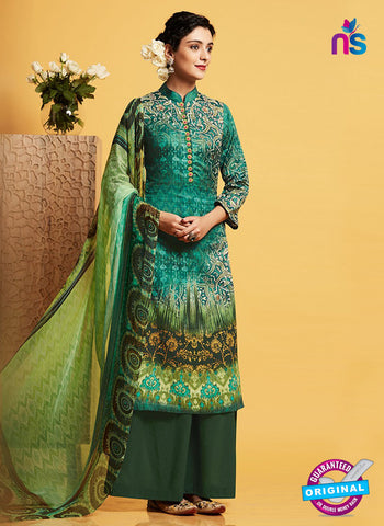 Kimora 128 Green Plazo Suit