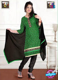 NS12203 Green and Black Chudiddar Suit