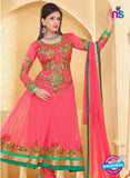 NS10935 Pink and Sea Green Georgette Anarkali Suit