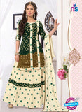 NS11112 Green and Yellow Satin Patiala Suit