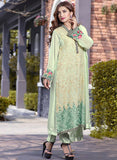 TM 12  Green Color Georgette Designer Suit