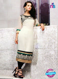 Buy NS11800  Ivory and Black Pure Cotton Kurti Online