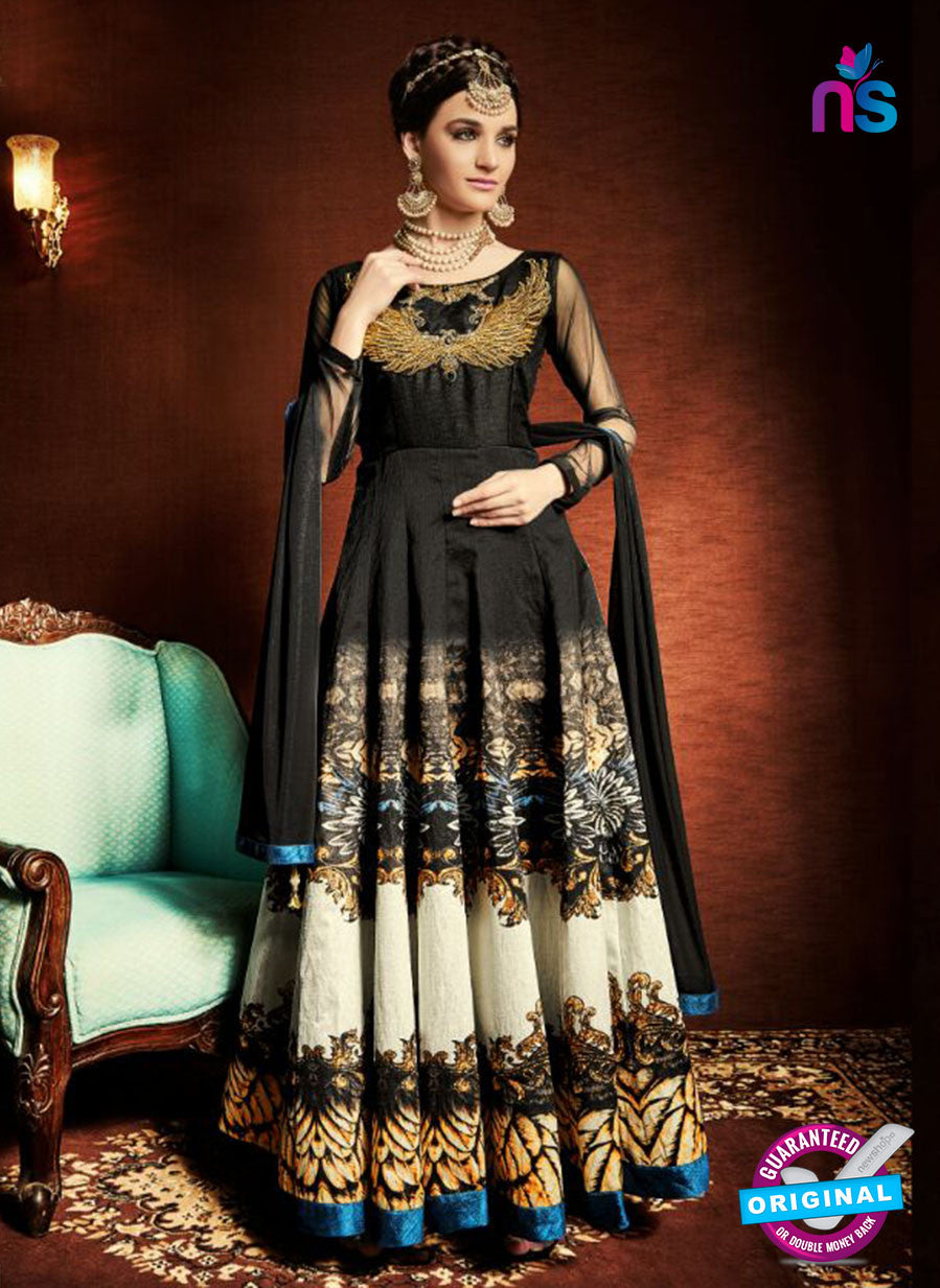 AZ 3374 Black Satin and Silk Fancy Function Wear Designer Anarkali Suit