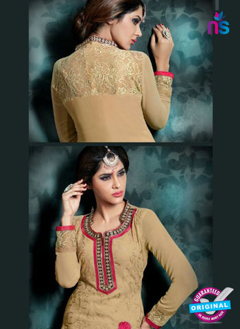 Akira 13002 Beige Georgette Party Wear Suit Online