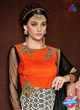AZ 3376 Orange and White Satin and Silk Fancy Function Wear Designer Anarkali Suit - Anarkali Suits - NEW SHOP