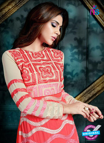 AZ 3990 Red Georgette Anarkali Suit