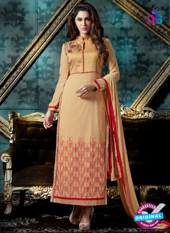 Akira 13006 Beige Georgette Party Wear Suit
