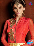 AZ 3378 Red and Golden Satin and Silk Fancy Function Wear Designer Anarkali Suit