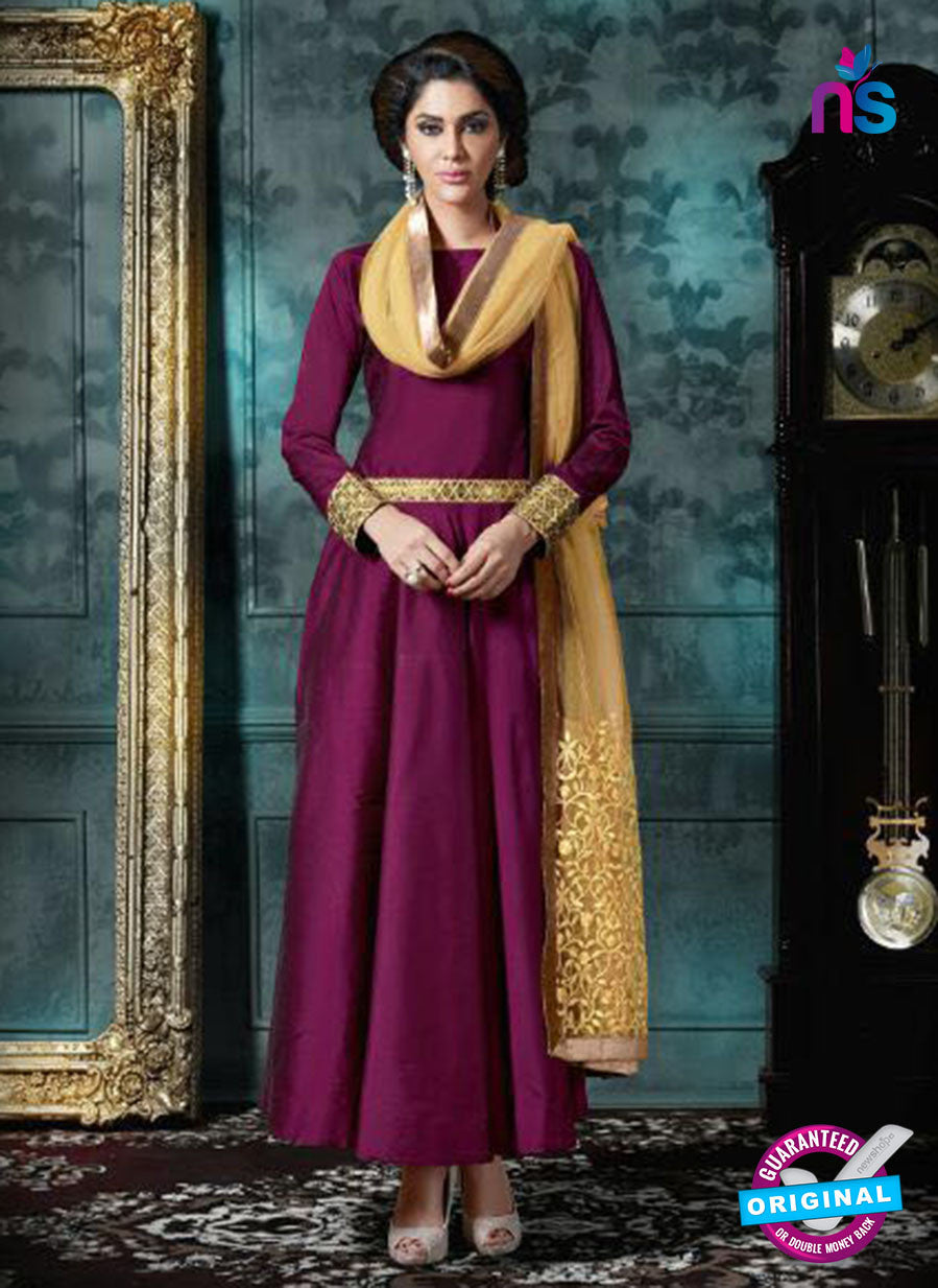 AZ 3993 Purple Georgette Indo Western Suit