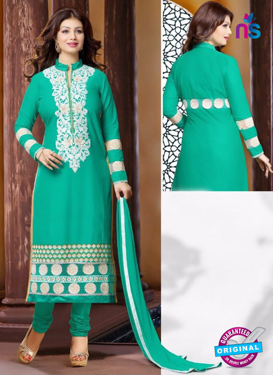 Ennayaa 13009 - Green Color Cambric Cotton Designer Suit