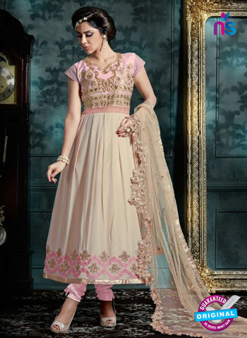 AZ 3995 Beige Georgette Anarkali Suit