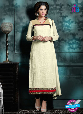 Akira 13012 White Georgette Party Wear Suit