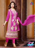 Ennayaa 13014 - Purple Color Cambric Cotton Designer Suit