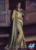 Buy Purple Romano 1301 Beige Jacquard and Georgette Party Wear Saree Online