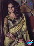 AZ 3791 Beige Jacquard and Georgette Party Wear Saree