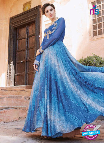 Arihant 13027 Blue Anarkali Suit