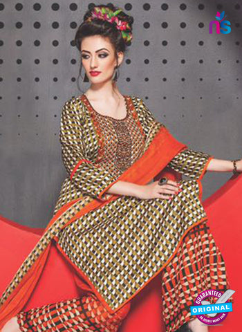 SC 13757 Multicolor Cambric Cotton Designer Exclusive Un-stitched Straight Plazo Suit Online