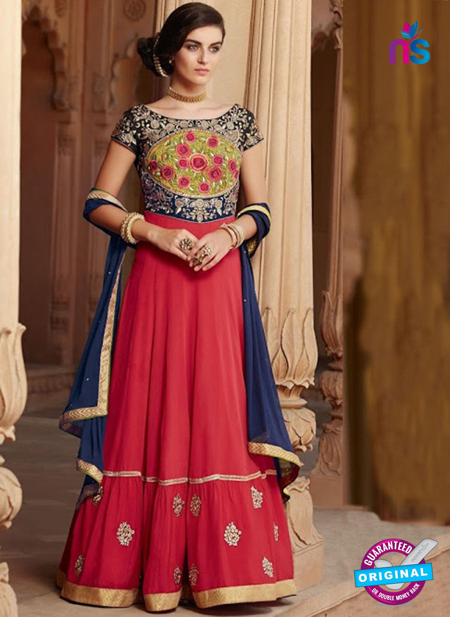 Kimora 1302 Red Georgette Party Wear Anarkali Suit