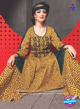 SC 13760 Yellow Cambric Cotton Designer Exclusive Un-stitched Straight Plazo Suit