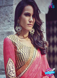AZ 3793 Pink Jacquard and Georgette Party Wear Saree