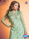 NS10450 Green Color Georgette Straight Suit Online
