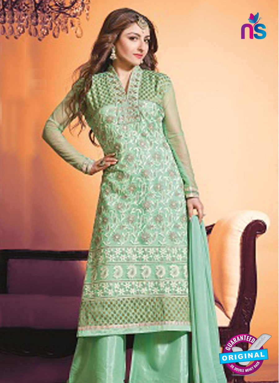 NS10450 Green Color Georgette Straight Suit