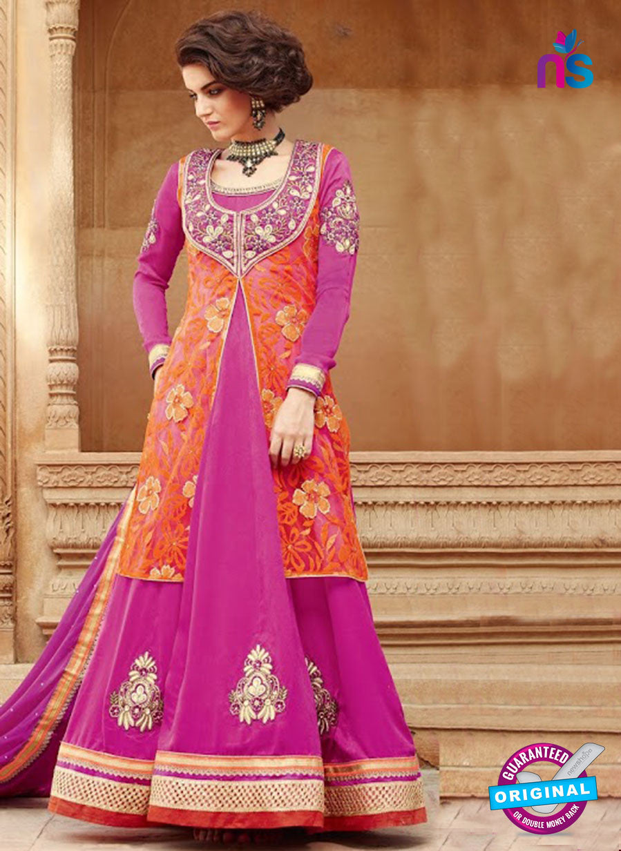Kimora 1305 Pink Valvet Party Wear Anarkali Suit