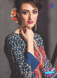 SC 13764 Blue Cambric Cotton Designer Exclusive Un-stitched Straight Plazo Suit
