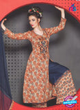 SC 13758 Multicolor and Blue Cambric Cotton Designer Exclusive Fancy Un-stitched Straight Plazo Suit
