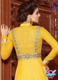 Yellow Silk Georgette Party Wear Anarkali Suit Online