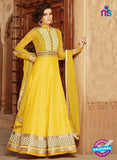 Yellow Silk Georgette Party Wear Anarkali Suit