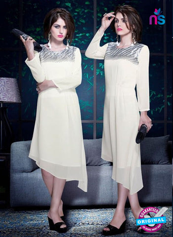 Titli 130 White Indo Western Tunic