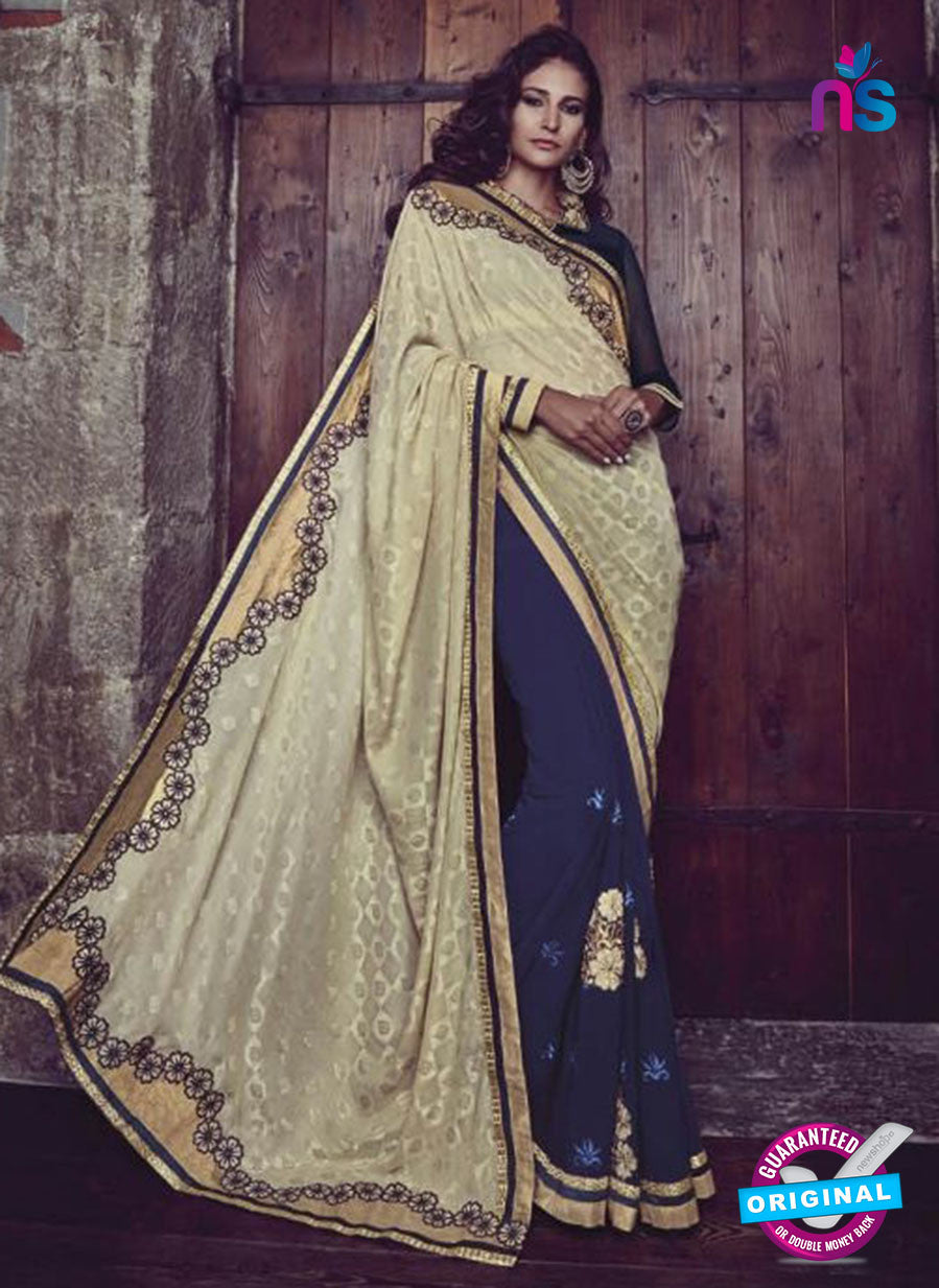 AZ 3800 Blue Jacquard and Georgette Party Wear Saree