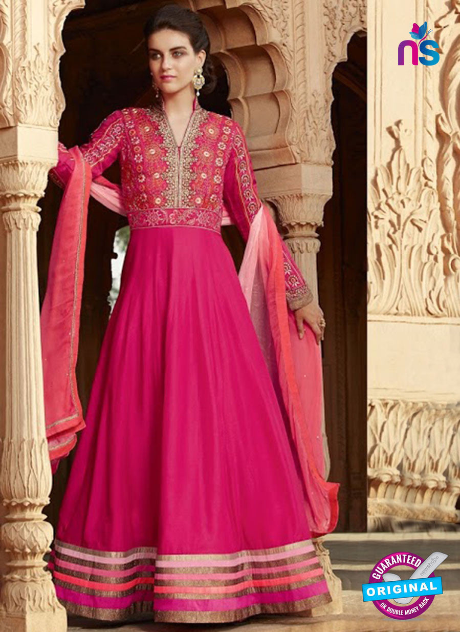 Kimora 1310 Pink Georgette Party Wear Anarkali Suit
