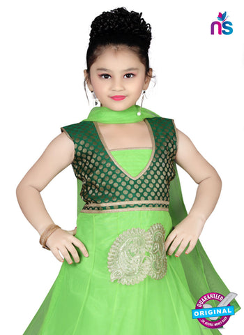 RT 13138 Green Readymade Anarkali Suit